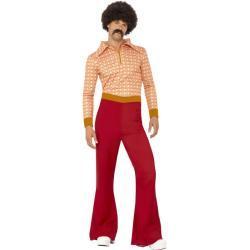 70's Guy Kostüm - rot/orange