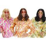 70s Hippie Shirt für Herren in 3 Farben - bunt