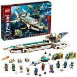 71756 Ninjago Wassersegler, Konstruktionsspielzeug U-Boot Spielzeug für Jungen und Mädchen ab 9 Jahren, Set mit 10 Ninja Mini Figuren