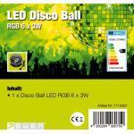 7even® LED Disco Starball - RGB 6 x 3 W / Spiegelkugel LED Lichteffekt / Fadi...
