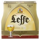 8 Flaschen Leffe Blond Belgisches Abtei Bierinc. 0.64€ MEHRWEG Pfand