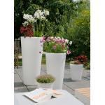 8-SEASONS Shining Classic Pot XL Pflanzgefäß weiß, Polyethylen, 49x100cm, Indoor & Outdoor weiß/creme