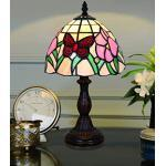 """8 Zoll roter Schmetterling pastoralen antiken Luxus-Stil handgefertigte Glas Tischlampe Nachttisch Schlafzimmer Kinder Licht Sold only in""""Collection Outlets"""""""