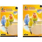 84 Stück Vogelsand - Teppich Sparpack Vogelsandteppich Vogelsandpapier 24 x 41 cm