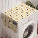 Abakuhaus Badorganizer »Anti-Rutsch-Stoffabdeckung für Waschmaschine und Trockner«, Gekritzel Königlicher König und Königin Kronen
