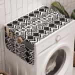 Abakuhaus Badorganizer »Anti-Rutsch-Stoffabdeckung für Waschmaschine und Trockner«, Geometrisch Modern Line Zig Zag