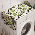 Abakuhaus Badorganizer »Anti-Rutsch-Stoffabdeckung für Waschmaschine und Trockner«, Italien Schwarze grüne Oliven auf Zweig