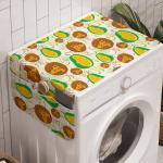 Abakuhaus Badorganizer »Anti-Rutsch-Stoffabdeckung für Waschmaschine und Trockner«, Jackfrucht Fröhlich Exotische Früchte
