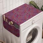 Abakuhaus Badorganizer »Anti-Rutsch-Stoffabdeckung für Waschmaschine und Trockner«, Lila Hippie traditionelle Paisley