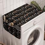 Abakuhaus Badorganizer »Anti-Rutsch-Stoffabdeckung für Waschmaschine und Trockner«, Orange und Schwarz Skelette Karneval