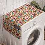 Abakuhaus Badorganizer »Anti-Rutsch-Stoffabdeckung für Waschmaschine und Trockner«, Zirkus Karneval Zelt Clown Hund