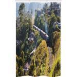 Abakuhaus Duschvorhang »Badezimmer Deko Set aus Stoff mit Haken« Breite 120 cm, Höhe 180 cm, Schienen Land-Landschaft Foto