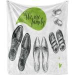 Abakuhaus Foulard »Gemütlicher Plüsch für den Innen- und Außenbereich«, Familie Wir sind Familie Wörter Schuhe