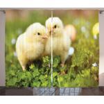Abakuhaus Gardine »Schlafzimmer Kräuselband Vorhang mit Schlaufen und Haken«, Chicks Baby-Hühner Foto
