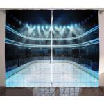 Abakuhaus Gardine »Schlafzimmer Kräuselband Vorhang mit Schlaufen und Haken«, Eishockey Sport Arena Foto Fans