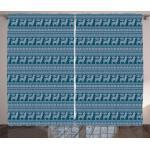 Abakuhaus Gardine »Schlafzimmer Kräuselband Vorhang mit Schlaufen und Haken«, Ethnisch Alpaka-Lama-südamerikanisch