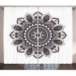 Abakuhaus Gardine »Schlafzimmer Kräuselband Vorhang mit Schlaufen und Haken«, Ethnisch Oriental Mandala Yoga-Motiv