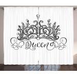 Abakuhaus Gardine »Schlafzimmer Kräuselband Vorhang mit Schlaufen und Haken«, Königin Crown Beschriftung Barock