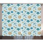 Abakuhaus Gardine »Schlafzimmer Kräuselband Vorhang mit Schlaufen und Haken«, Nautisch Ankerrad Seestern