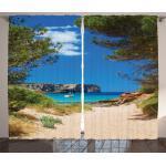 Abakuhaus Gardine »Schlafzimmer Kräuselband Vorhang mit Schlaufen und Haken«, Nautisch Sand Pathway to Ozean