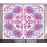 Abakuhaus Gardine »Schlafzimmer Kräuselband Vorhang mit Schlaufen und Haken«, persisch Boho Blumen