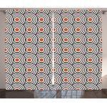 Abakuhaus Gardine »Schlafzimmer Kräuselband Vorhang mit Schlaufen und Haken«, Schwarz Abstrakte Retro Spiralen