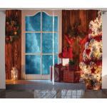 Abakuhaus Gardine »Schlafzimmer Kräuselband Vorhang mit Schlaufen und Haken«, Weihnachten Gefrorene Schnee Haus