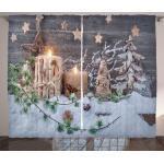 Abakuhaus Gardine »Schlafzimmer Kräuselband Vorhang mit Schlaufen und Haken«, Weihnachten Kerzen mit Laternen