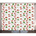 Abakuhaus Gardine »Schlafzimmer Kräuselband Vorhang mit Schlaufen und Haken«, Weihnachten Weihnachtsbaum Weihnachtsmann