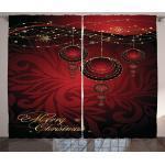 Abakuhaus Gardine »Schlafzimmer Kräuselband Vorhang mit Schlaufen und Haken«, Weihnachten yuletide Celebration, rot