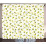 Abakuhaus Gardine »Schlafzimmer Kräuselband Vorhang mit Schlaufen und Haken«, Zitronen Watercolored Zitronen