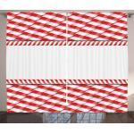 Abakuhaus Gardine »Schlafzimmer Kräuselband Vorhang mit Schlaufen und Haken«, Zuckerstange Abstrakte Weihnachten Border