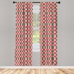 Abakuhaus Gardine »Vorhang für Wohnzimmer Schlafzimmer Dekor«, Abstrakt Vintage geometrische Kunst