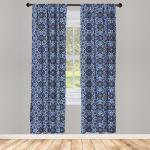 Abakuhaus Gardine »Vorhang für Wohnzimmer Schlafzimmer Dekor«, Arabisch Persian Gypsy Entwurf, blau