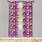 Abakuhaus Gardine »Vorhang für Wohnzimmer Schlafzimmer Dekor«, asiatisch Indonesische Batik Hippie, lila