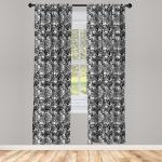Abakuhaus Gardine »Vorhang für Wohnzimmer Schlafzimmer Dekor«, Blatt Vintage Spitze Stil Gothic