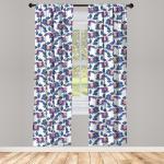 Abakuhaus Gardine »Vorhang für Wohnzimmer Schlafzimmer Dekor«, Blume Vibrant Vintages Shabby