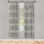 Abakuhaus Gardine »Vorhang für Wohnzimmer Schlafzimmer Dekor«, Boho Abstrakt Primitive