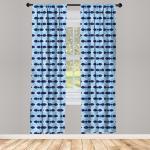 Abakuhaus Gardine »Vorhang für Wohnzimmer Schlafzimmer Dekor«, Fisch Nautische Tiermuster