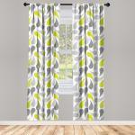 Abakuhaus Gardine »Vorhang für Wohnzimmer Schlafzimmer Dekor«, Geometrisch abstrakte Paisley