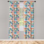 Abakuhaus Gardine »Vorhang für Wohnzimmer Schlafzimmer Dekor«, Geometrisch Pastell Mosaik-Kreise