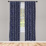 Abakuhaus Gardine »Vorhang für Wohnzimmer Schlafzimmer Dekor«, Geometrisch Vintage Japanese