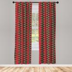 Abakuhaus Gardine »Vorhang für Wohnzimmer Schlafzimmer Dekor«, Geometrisch Weihnachten Shapes