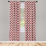 Abakuhaus Gardine »Vorhang für Wohnzimmer Schlafzimmer Dekor«, Geometrisch Zier Weihnachten