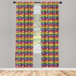 Abakuhaus Gardine »Vorhang für Wohnzimmer Schlafzimmer Dekor«, Hippie Herz-Frieden, bunt