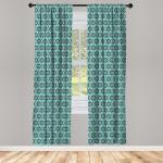 Abakuhaus Gardine »Vorhang für Wohnzimmer Schlafzimmer Dekor«, Ikat traditionelle Punkte