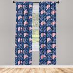 Abakuhaus Gardine »Vorhang für Wohnzimmer Schlafzimmer Dekor«, japanisch Asiatische Kunstmotive