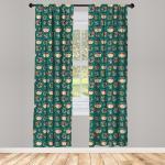 Abakuhaus Gardine »Vorhang für Wohnzimmer Schlafzimmer Dekor«, Kindergarten Mädchen mit Bären-Hut Crystals