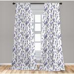 Abakuhaus Gardine »Vorhang für Wohnzimmer Schlafzimmer Dekor«, Lavendel Aquarell-Kunst-Werk