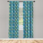Abakuhaus Gardine »Vorhang für Wohnzimmer Schlafzimmer Dekor«, Moonflower Bunte Vögel in der Nacht